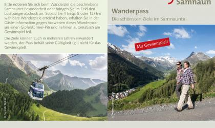 Samnaun hiking pass for children with contest