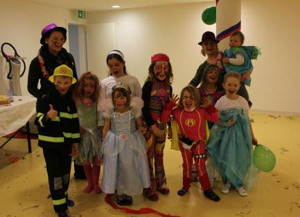 Carneval party kid's club Samnaun