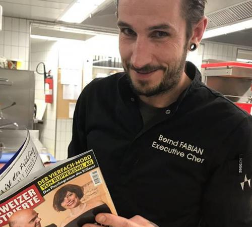 Chasa Montana Kitchen Chef Bernd Fabian is Swiss Gault Millau Chef of the Month March 2018